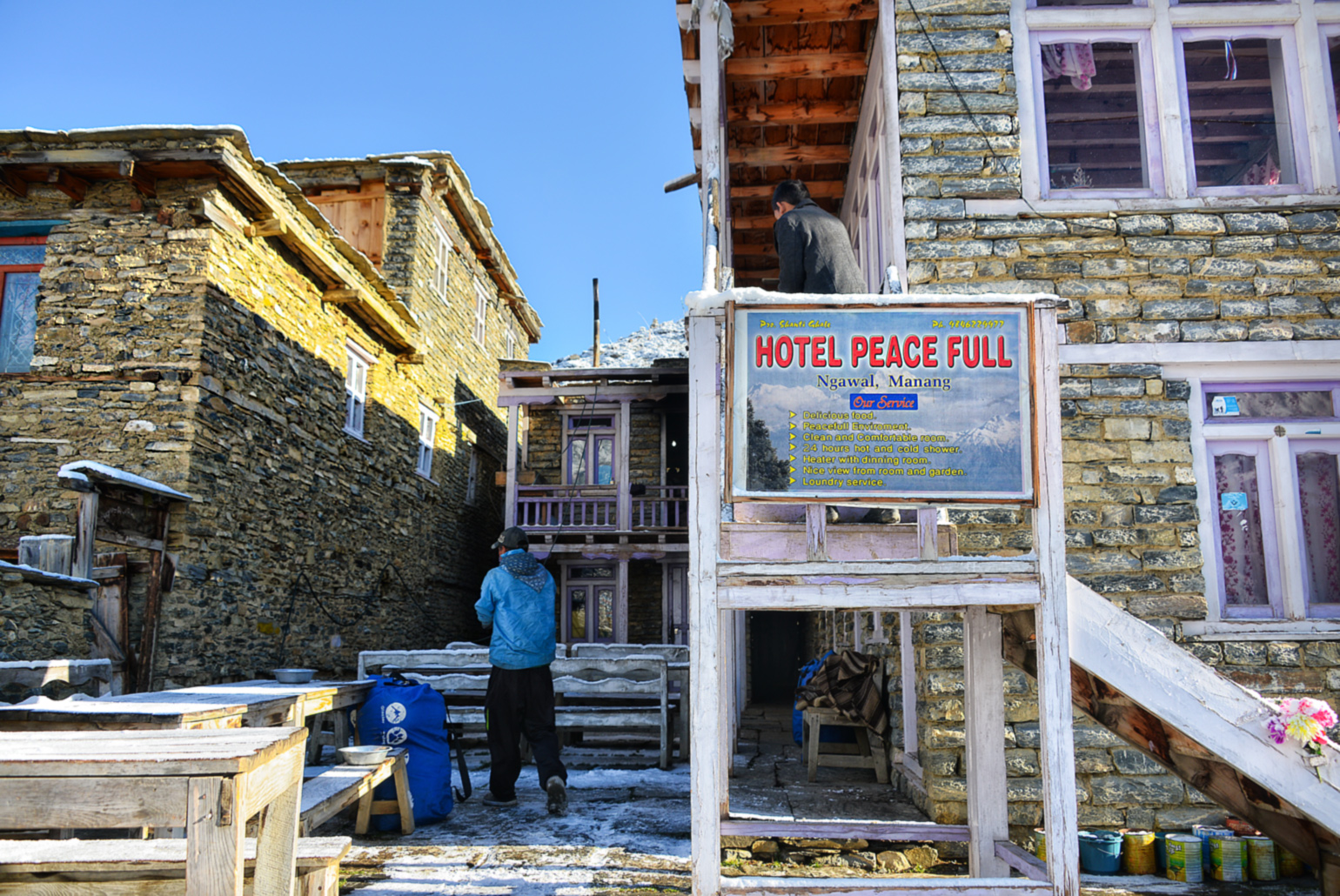 Hotel Peace Full in Ngawal